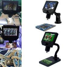1 шт. 600X HD LCD цифровой микроскоп США/ЕС/Великобритания/Австралия электронный Микроскоп увеличение эндоскоп Ремонт лупа с металлической подс...