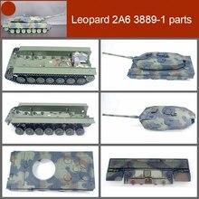 1pc couvercle de réservoir en plastique/coquille/canon en métal/plaque de lumière arrière remplacer les pièces pour 1/16 Henglong RC réservoir léopard 2A6 3889-1 Heng Long