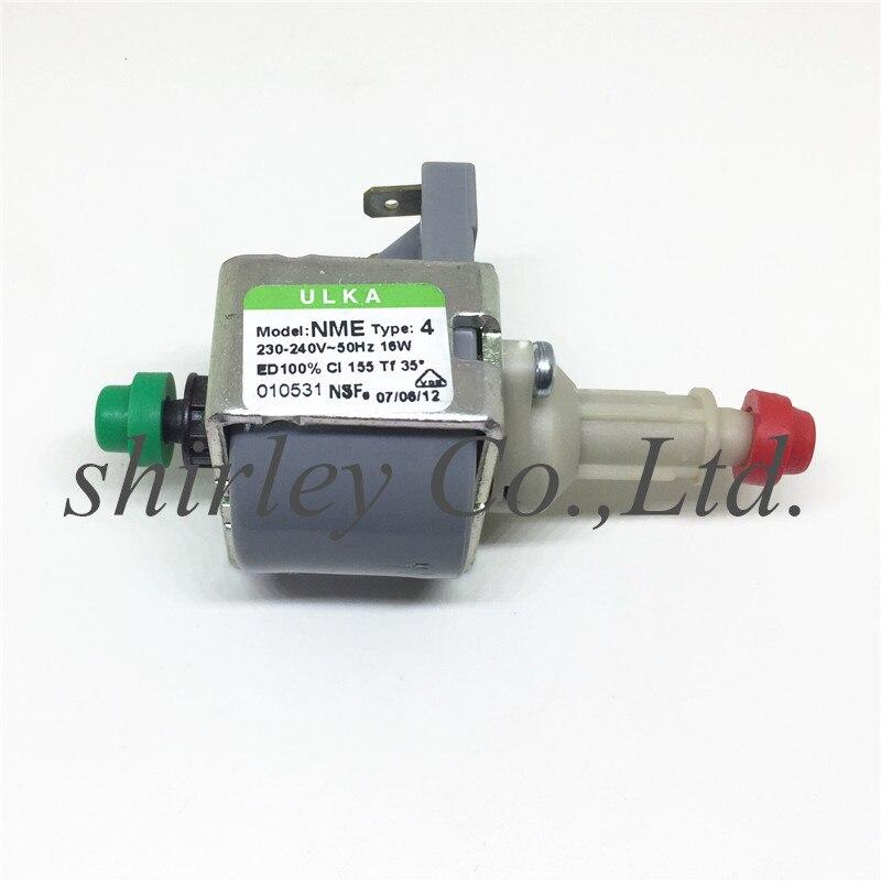 Bomba electromagnética ULKA 16W 230-240V NME, bomba de máquina de café genuina importada de Italia, accesorios para equipos médicos