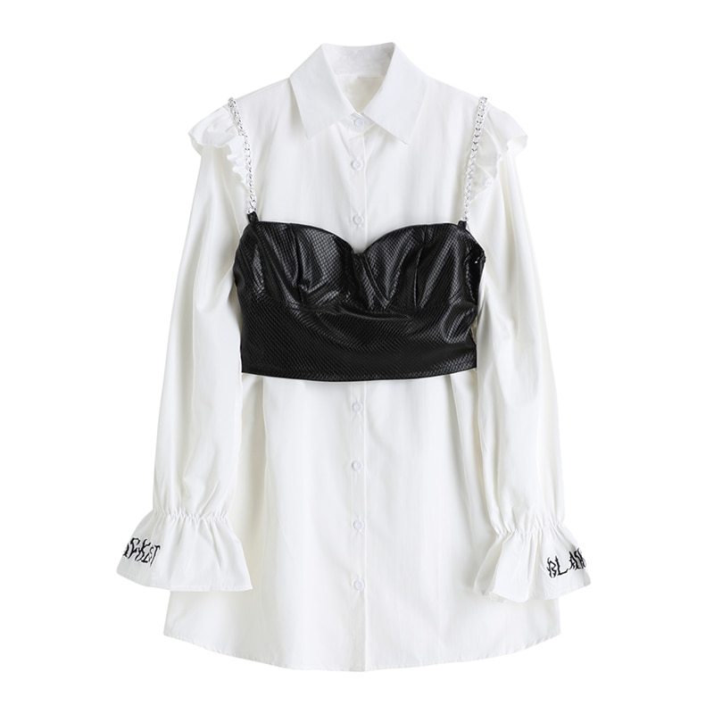 AliExpress - Lauri Laki Vintage White Blouse Dress Women Elegant Long Sleeve Shirts Mujer Plus Size Chic Office Wear Tops 2021