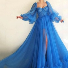New 2021 Women Elegant Maxi Dress Ladies Sexy Mesh Lantern Sleeve Floor Length Evening Party Dress P