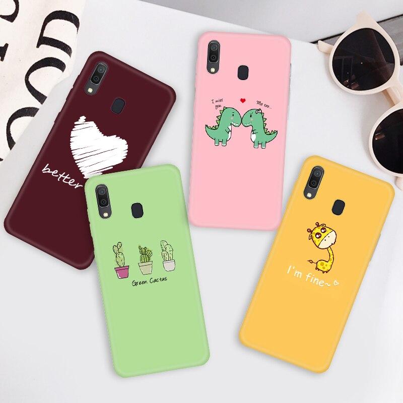 Candy Color TPU Case For Samsung Galaxy A50 A70 A30 A20 A10 Cartoon Animlas Pattern Case For Samsung A50 A 50 70 A505 A705F A205