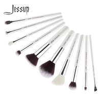 jessup beauty 10pcs goat synthetic hair makeup brushes set eyeshadow foundation powder concealer cosmetic kit 5 colors