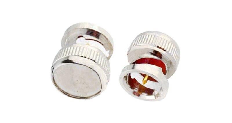 Superbat 10 шт пылезащитный колпачок для BNC Jack женский радиочастотный коаксиальный разъем никелированный для анти-коммуникационного сигнала помех