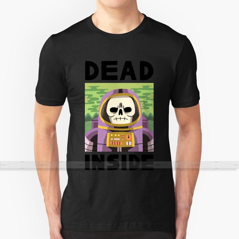 Muerto por dentro T camisa de diseño personalizado de algodón para hombres y mujeres camiseta de verano Tops astronauta muerta muerto no-muertos Zombie astronauta ASTRONAUTA