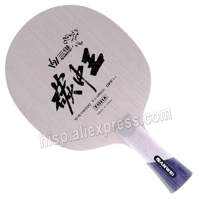 Lâmina de Ping Ténis de Mesa Rei de Carbono Off + Lâmina de Tênis de Mesa Sanwei Forte Poder Pong Bat –