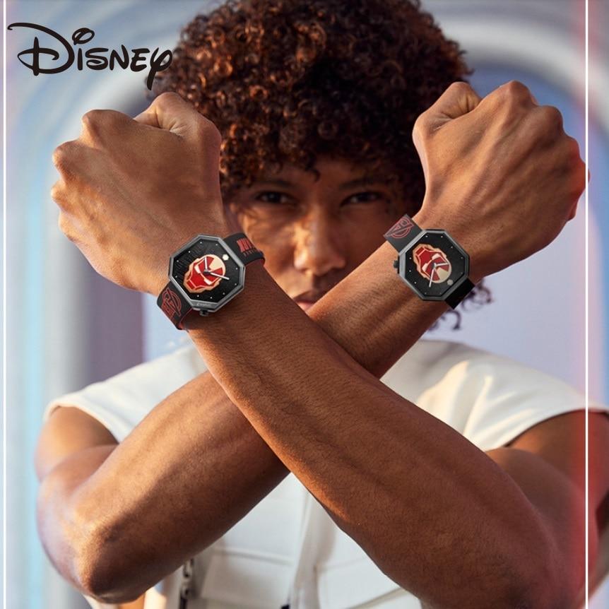 Disney Original Marvel The Avengers Iron  Quartz WristWatches Relogio MasculinoMan Antique Mens 50m Waterproof Clock Male Watch