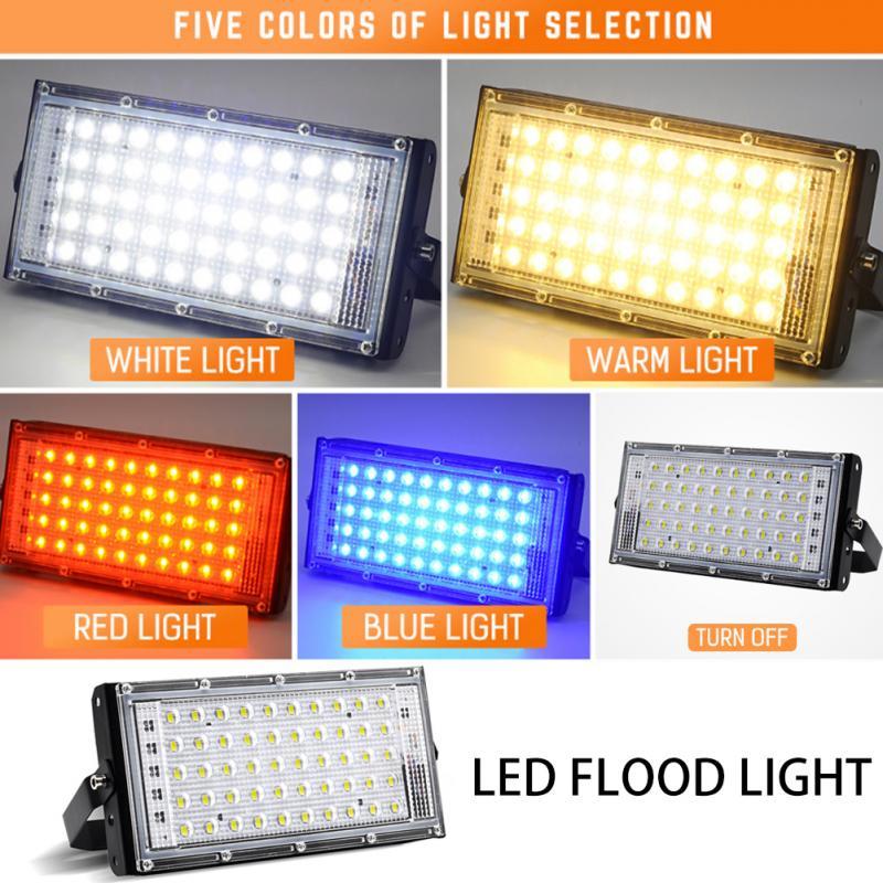 Reflector LED de seguridad ca de 220V y 50W, luces de inundación de 50W para interiores y exteriores, lámpara impermeable para jardín, foco de iluminación de calle, envío directo
