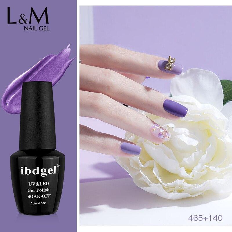 6 unids/lote ibdgelHigh la tecnología de alta calidad las uñas de Gel polaco soak off UV Gel polish serie púrpura LED de uñas UV led pegamento arte