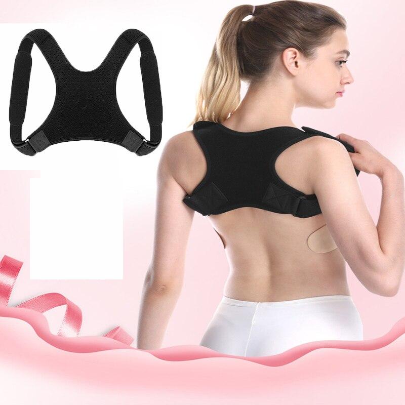 Nuevo Corrector de postura de la columna vertebral, protección de espalda, hombro, Corrector de postura, banda correctora de joroba, soporte para alivio del dolor de espalda
