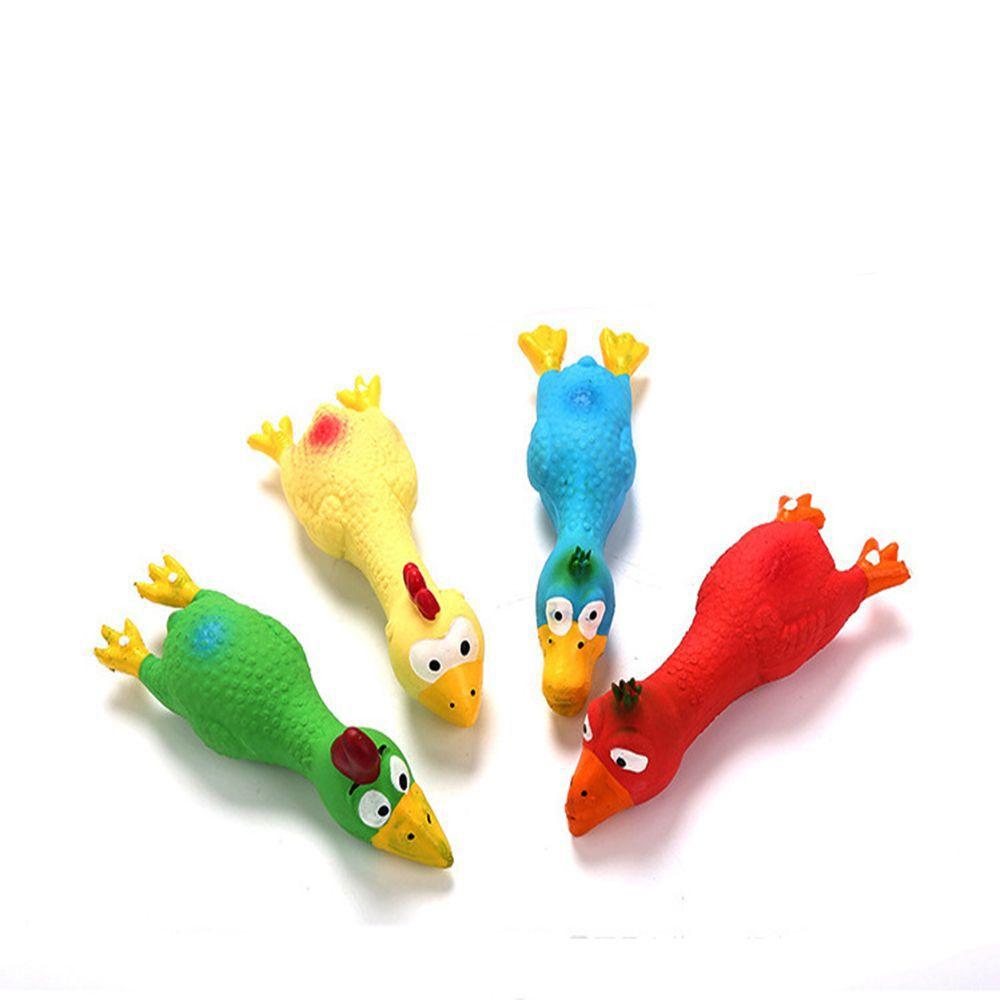 Nette Latex Huhn Form Pet Squeak Spielzeug Hund Katze Welpen Kauen Sound Spielzeug Simulation Schreien Huhn Kreative Hund Zubehör