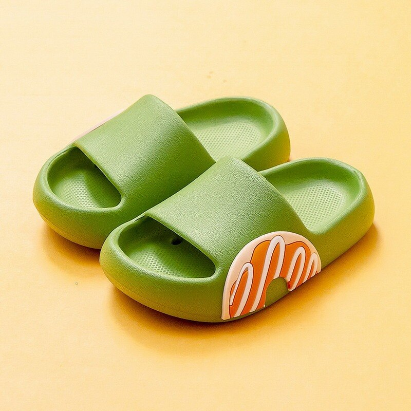 Childrens Slippers Summer Cute Beach Shoes For Boys Girls Waterproof Antiskid Bathroom Kids Soft Baby
