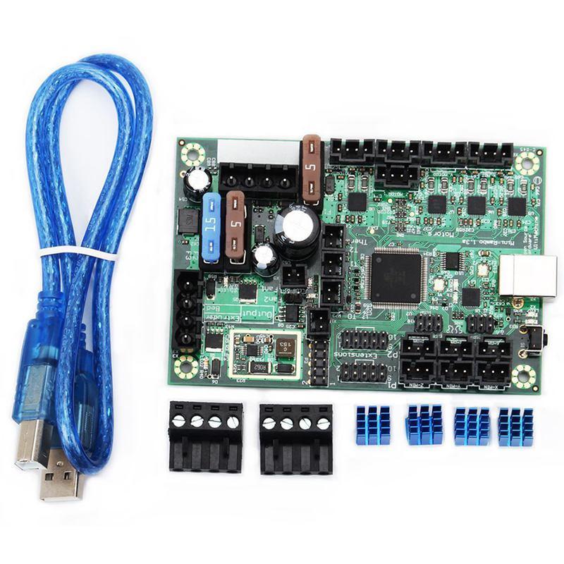 Mini-Rambo 1.3 مجموعة لوحة تحكم للطابعة ثلاثية الأبعاد ، مجموعة لوحة تحكم ، أجزاء طابعة Prusa MK2 ، DC 10-28V ، 1 قطعة