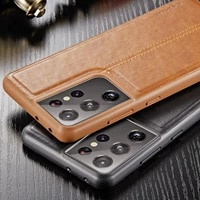 case for samsung galaxy s21 s20 s10 s10e s9 s8 plus note 20 luxury vintage leather coque soft cover for samsung s21 ultra case