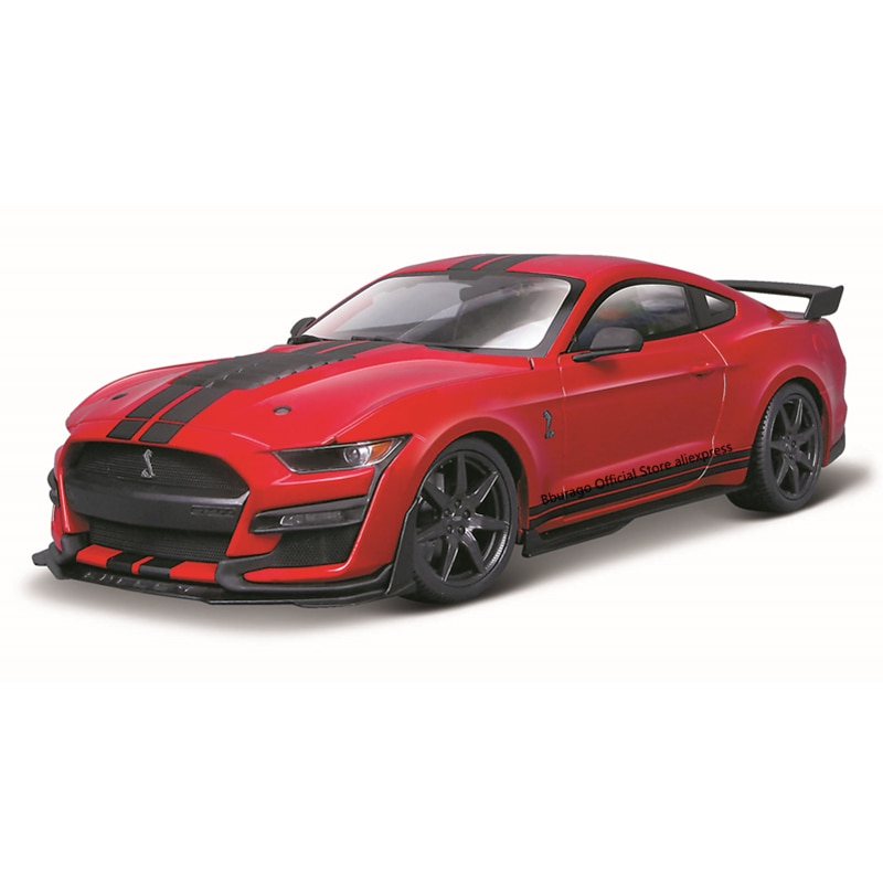 Bburago 1:32 Scale 2020 Ford Shelby GT500 Alloy Luxury Vehicle Diecast Cars Model Toy Collection Gift ixo altaya 1 43 scale ford mustang shelby gt 350h 1965 cars diecast toys models limited edition collection white