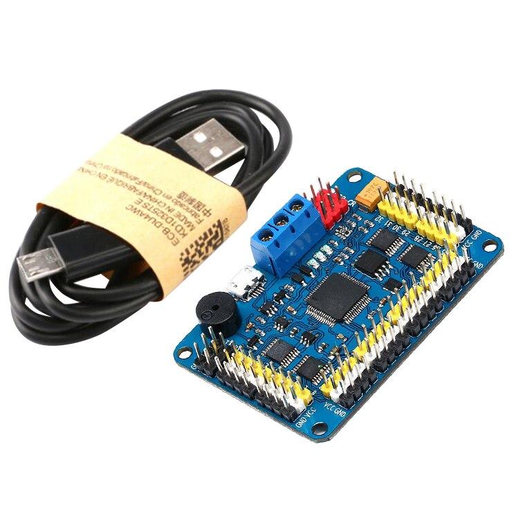 Controlador de servocontrol con placa de Control de servomotor de canal FBIL-32, controlador inalámbrico PS2, modo de conexión USB/UART