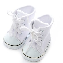 White Cloth Shoes Doll accessories  fits for American18