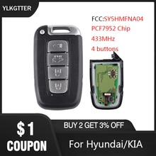 YLKGTTER 4 botones de coche remoto traje de llave inteligente para KIA K2 K5 Rio Optima Sorento Mohave/HYUNDAI I30 I45 Ix35 Genesis Equus 433MHz