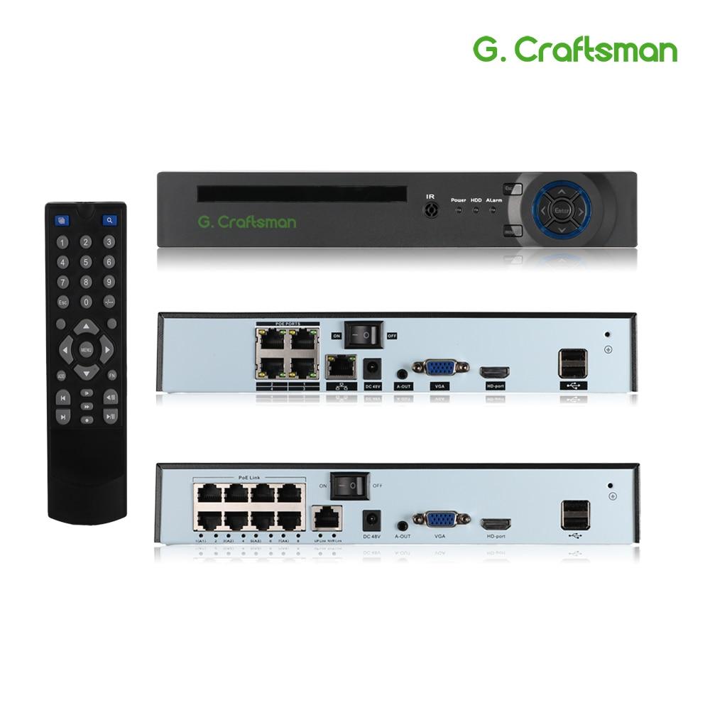 Xmeye 4ch 8ch 5MP Poe Nvr Gezichtsherkenning H.265 + Onvif Netwerk Video Recorder 1 Hdd 24/7 Opname Ip Camera onvif P2P Systeem