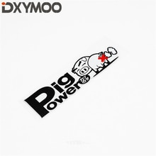 Auto Exterior Accessory Sticker Funny Power Pig Motorcycle Sticker Bumper Waterproof