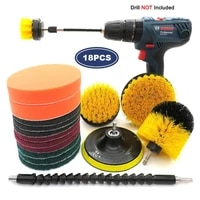 3418pcs electric scrubber detailing drill brush kit plastic round cleaning washing tools for car pet glass wheel nylon brushes