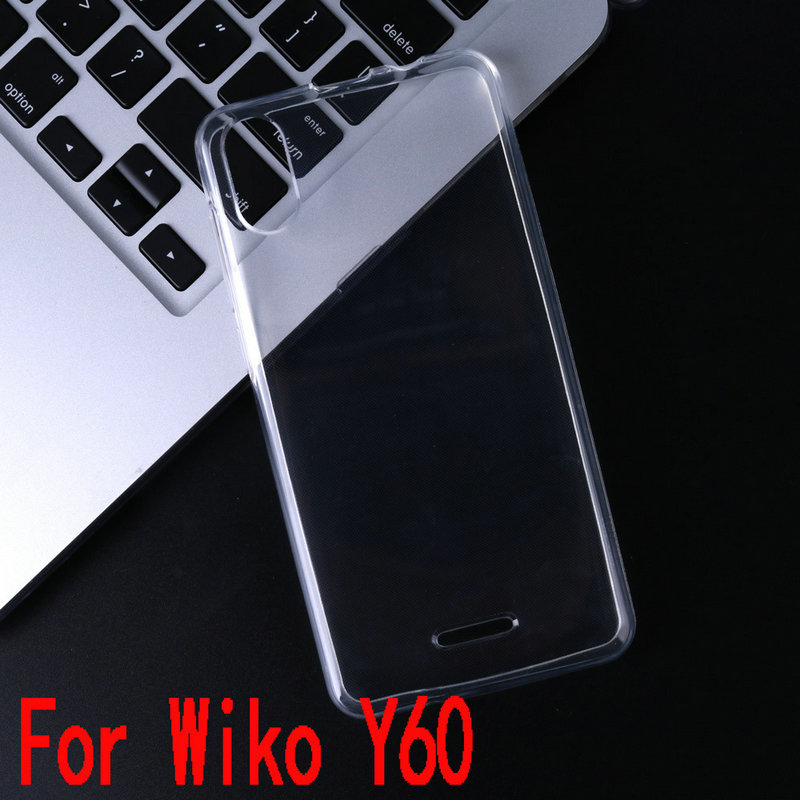 Para wiko Y60 funda de silicona transparente para wiko Y60 para wiko Y80 para wiko Y70 funda trasera del teléfono suave funda Capa Etui>