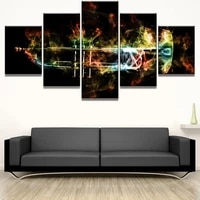 canvas wall art 5 piece prints trumpet flames musical instruments home modern decorative framed bedroom decoration paintings