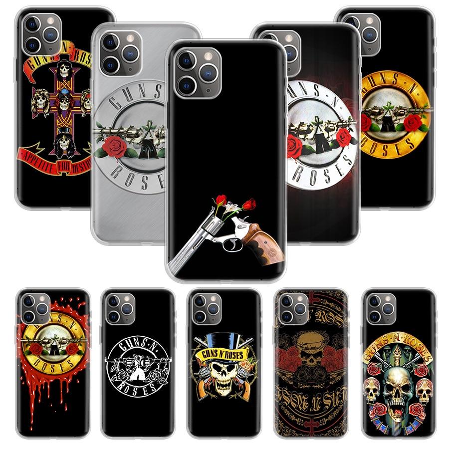 Armas n rosas caso para apple iphone 11 pro xs max xr x 7 8 6 s mais 5 5S se 10 dez presente silicone telefone capa coque