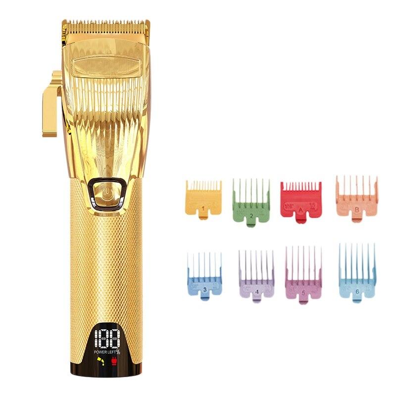 مقص الشعر اللاسلكي المعدني 2500Mah 5H صالون استخدام قص الشعر مقص الشعر اللاسلكي الرجال الشعر المتقلب