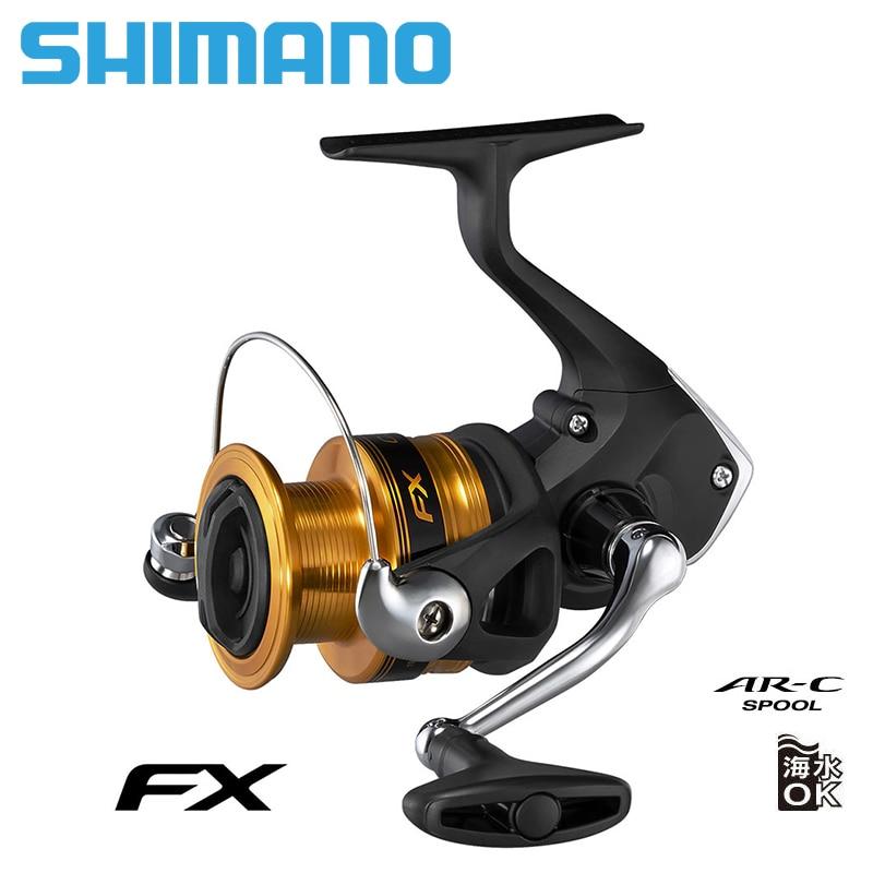 Nouveau SHIMANO FX pêche moulinet 1000/2000/2500/2500HG/C3000/4000 2 + 1 BB max glisser 4 kg/8.5 kg moulinets pêche roue métal bobine