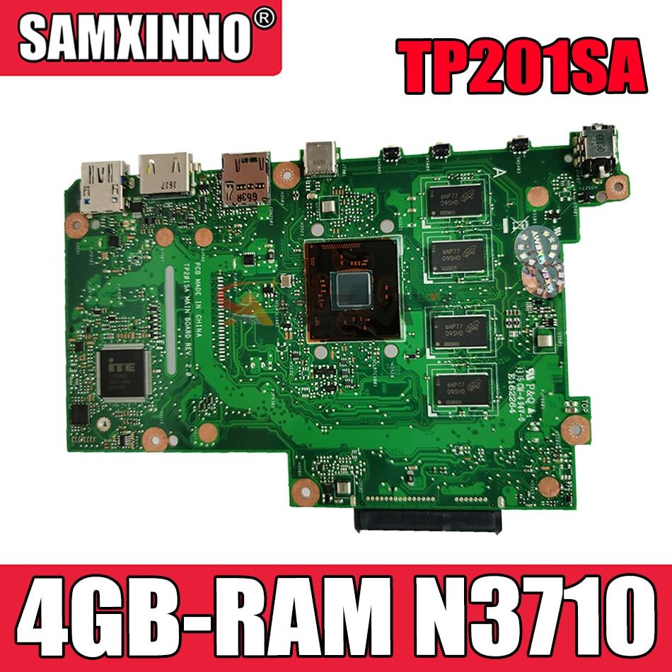Akemy TP201SA اللوحة الأم لأجهزة الكمبيوتر المحمول ASUS TP201SA اللوحة الرئيسية الأصلية 4GB-RAM N3710-CPU