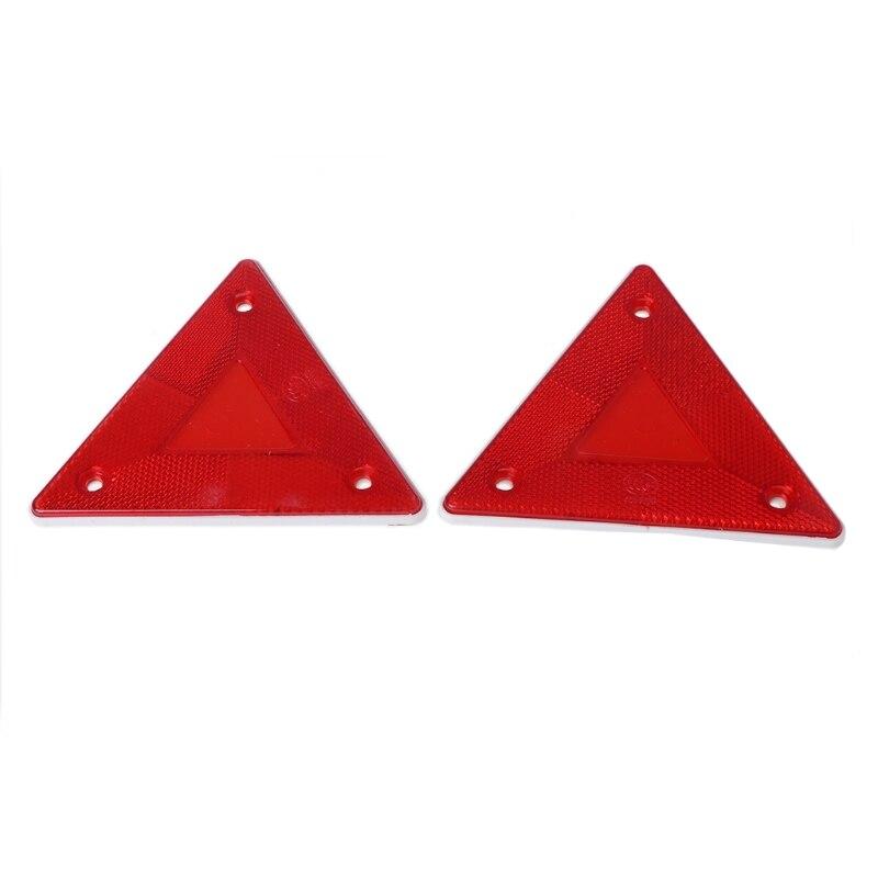 2 pçs triângulo aviso refletor alertas placa de segurança luz traseira reboque caminhão de bombeiros do carro suporte transporte da gota