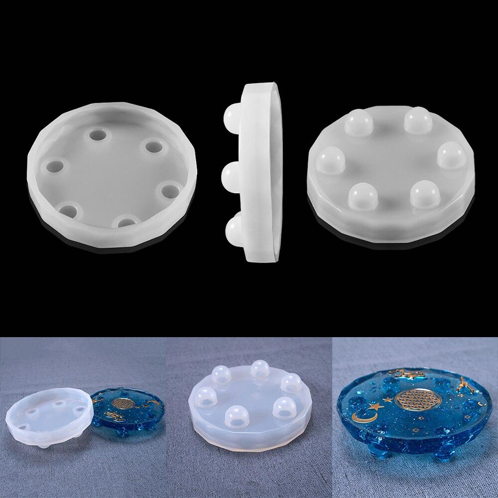 Круглые силиконовые подставки, 1 шт., Необычные искусственные подставки для чашек «сделай сам», подставки для ювелирных изделий, поднос, инс...