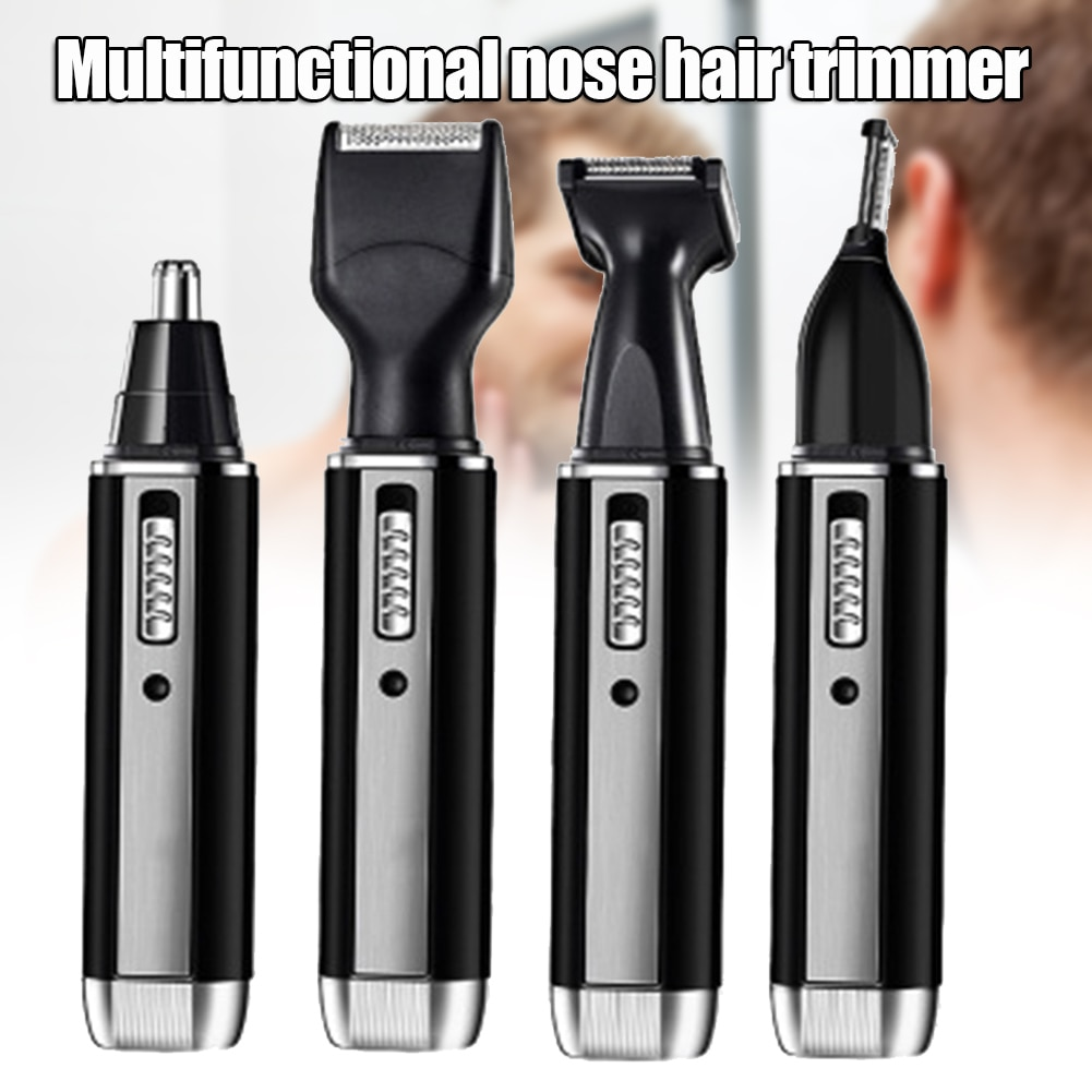 4-in-1 Electric Nose Hair Trimmer Clipper Rechargeable Beard Eyebrow Shaver Razor for Men MH88
