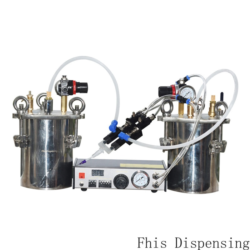 Automático da Bomba Válvula de Distribuição Dispensador Duplo Cilindro Retrátil Líquida Dupla 1919ab