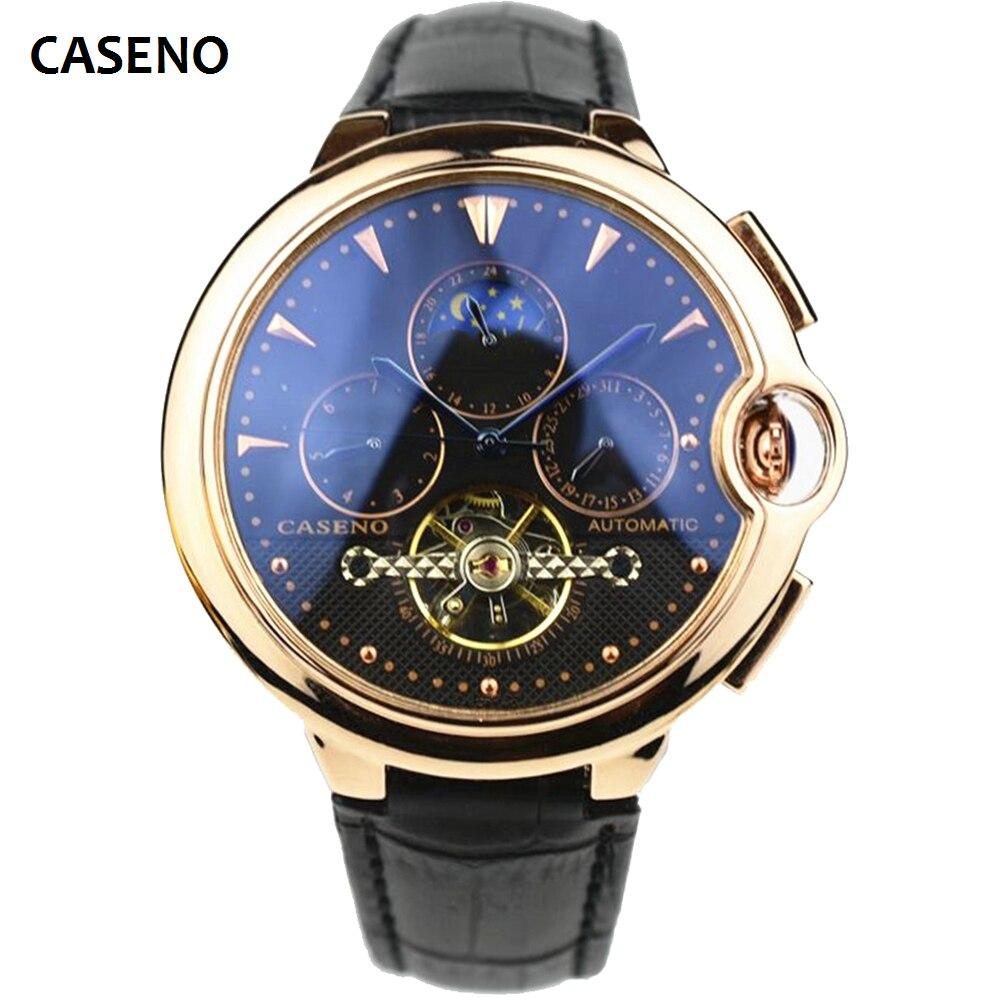 Relojes mecánicos de los hombres de acero inoxidable automática de Reloj superior de la marca de relojes de lujo para hombre Deporte Reloj de hombres CASENO nuevo 2020