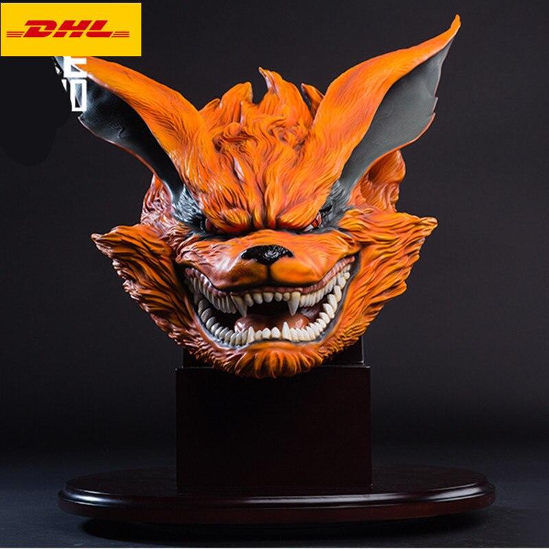 "19 ""estatua de NARUTO Kurama busto kyuubi Uzumaki Naruto retrato de longitud completa Versión Original hacha GK acción modelo caja de juguete 48CM A86"