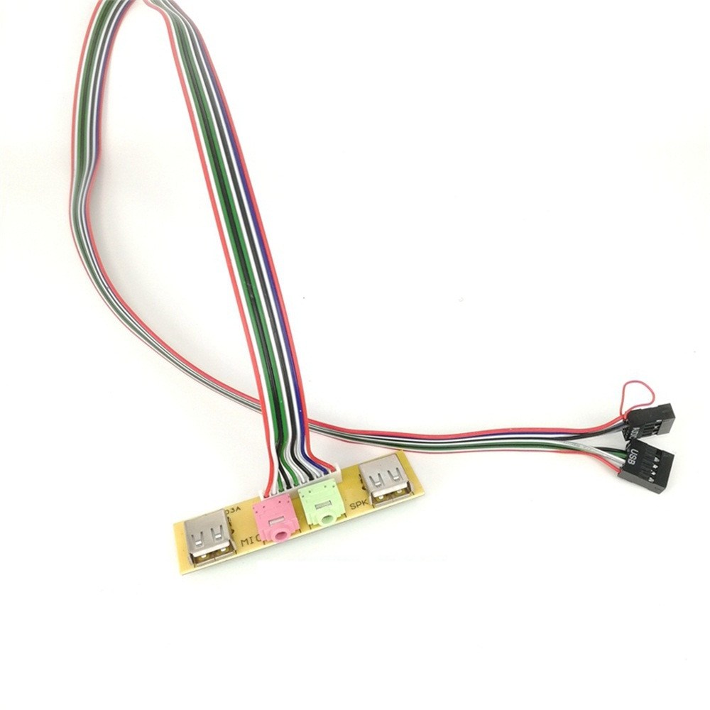 2 Usb Pc Computer Case 7 8cm Fronpanel Usb Audio Pormic Earphone Cable Carprie Computer Accessories Audio Adapter Connector