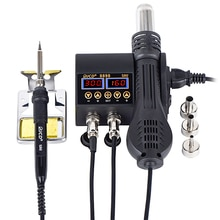 Estación de soldadura Digital ajustable de temperatura SMD de 750W 2 en 1 Estación de Reparación de aire caliente 8898 para reparación de teléfono móvil BGA