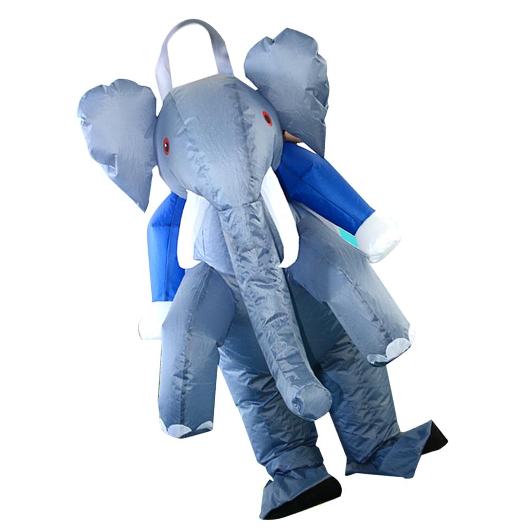 Disfraz de elefante inflable divertido, traje gordo de aire, disfraz de explosión, suministros de Carnaval y Halloween