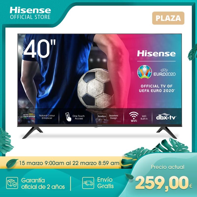 HISENSE 40A5600F TV televisión Smart TV 40 pulgadas,Led TV,FHD 1920x1080,VIDAA,Diseño sin bisel,USB HDMI,Soporte Youtube Netflix