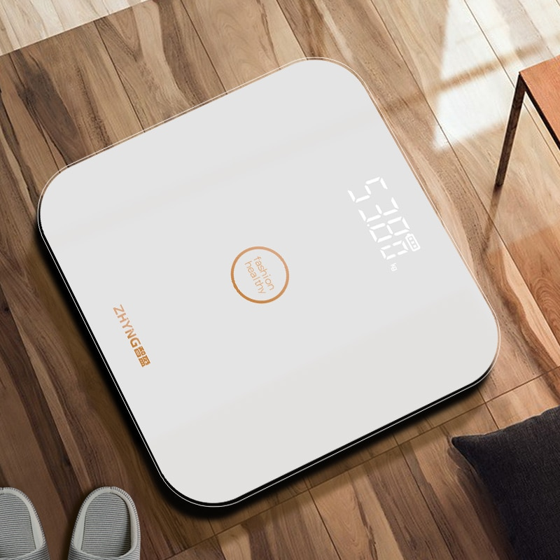 Digital Weighing Scale Body Electronic Precision Usb Charging Glass Scale Floor Bathroom Pese Personne Household Items DE50TZC enlarge