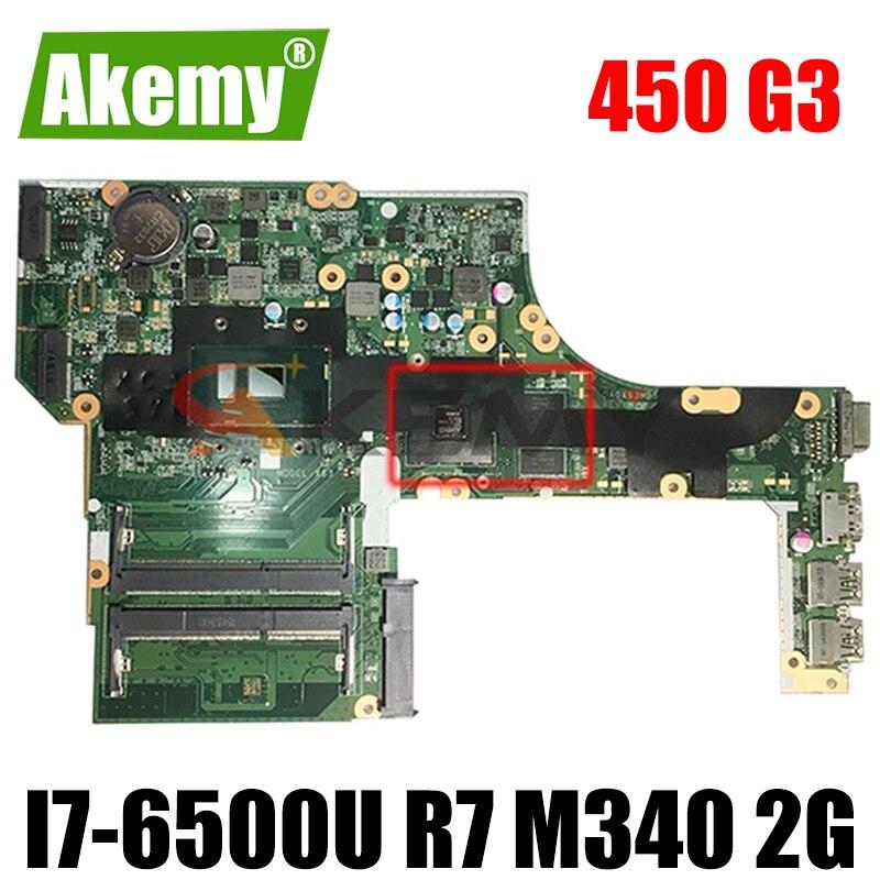 ل HP PROBOOK 450 G3 اللوحة المحمول ث/i7-6500U وحدة المعالجة المركزية و R7 M340 2G GPU 827026-001 827026-501 827026-601 DA0X63MB6H1