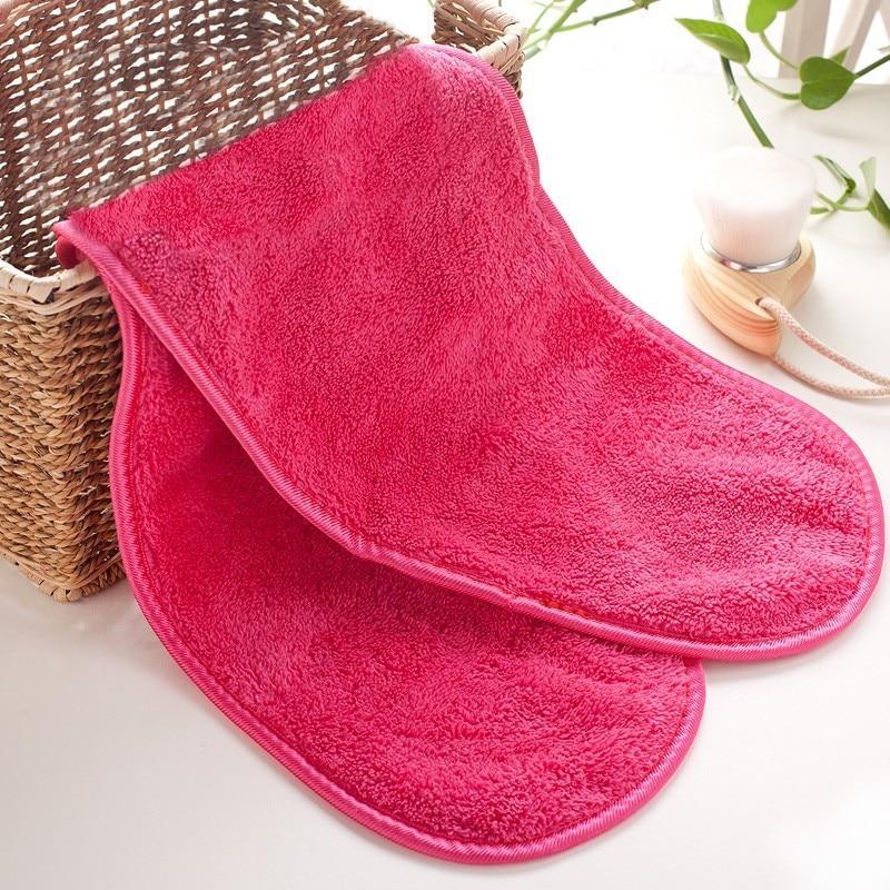 Toallas para maquillaje, 40x18CM, almohadilla de tela de microfibra, toalla limpiadora desmaquillante