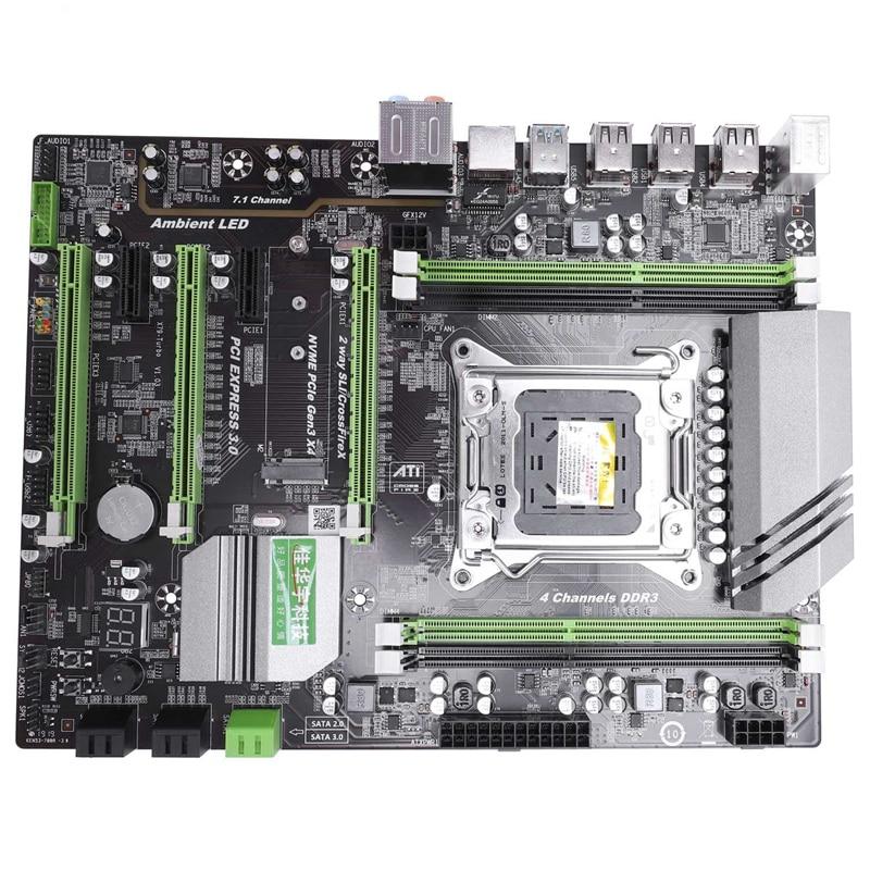 X79T Ddr3 Pc Desktops placa base Lga 2011 Cpu ordenador 4 canales Gaming soporte M.2 E5-2680V2 I7 Sata 3,0 Usb 3,0 para B75