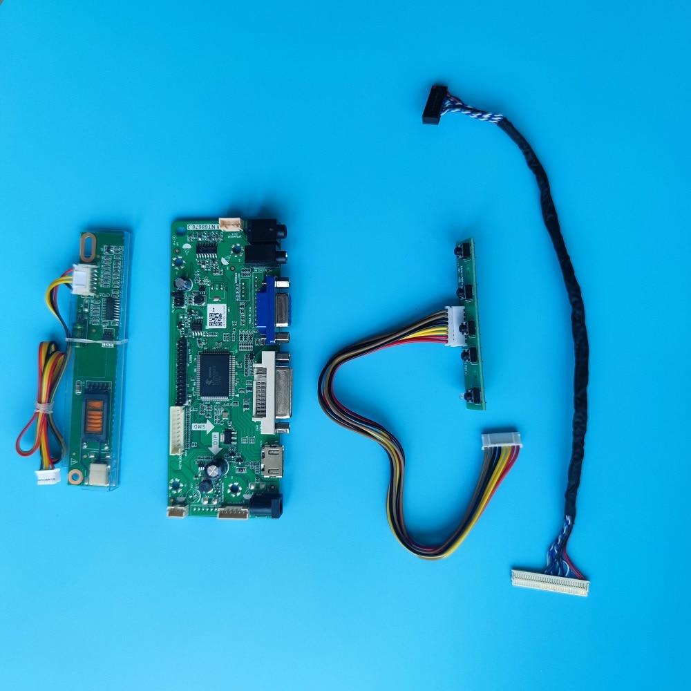 عدة ل LP171WE2-TLA1/TLA2/TLA3/TLA4/TLA5/TLA6 DVI VGA M.NT68676 1680 × 1050 30pin LVDS جهاز تحكم بالشاشة مجلس 17.1