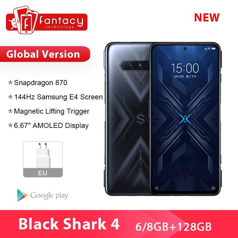 Smartphone, Black Shark 4, ram 8 go, rom 2021 go, 870Hz, AMOLED, téléphone intelligent, terminal mobile, 5G, Snapdragon 128, 144 Code: 30ALICUMPLE11 (€290-€40)