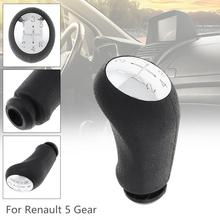 Pommeau de levier de vitesse manuel noir 5 vitesses Chrome voiture pour Renault CLIO MK3 3 III Megane MK2 scénic MK2 / 5 modèles de vitesses