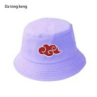 red cloud bucket hat unisex outdoor japan anime cap casual foldable fisherman hats sunscreen beach panama hats
