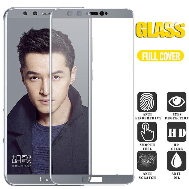 Funda protectora de cristal para Huawei Honor 9 Lite funda de vidrio templado para Honor 9 Lite luz completa cubierta protectora de vidrio